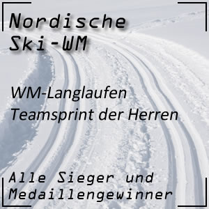 Nordische Ski-WM Teamsprint der Herren