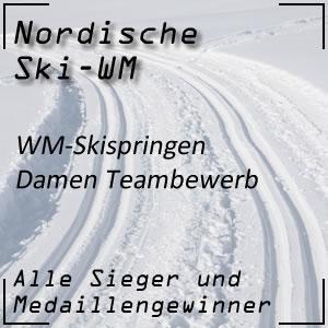 Nordische Ski-WM Skispringen Teambewerb der Damen