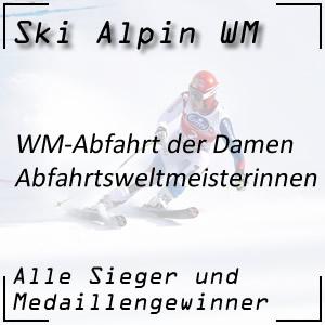 Ski Alpin WM Abfahrt Damen / Abfahrtsweltmeisterinnen