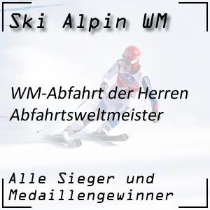 Ski Alpin WM Abfahrt Herren / Abfahrtsweltmeister
