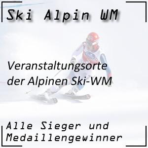Ski Alpin WM Veranstaltungsorte