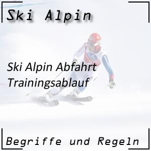 Ski Alpin Abfahrt Trainingslauf