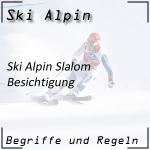 Ski Alpin Slalom Besichtigung