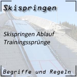 Skispringen Ablauf Trainingssprünge Training