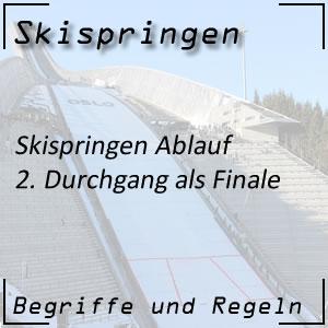 Skispringen Ablauf 2. Durchgang