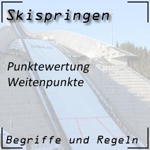 Skispringen Punktewertung Weitenpunkte
