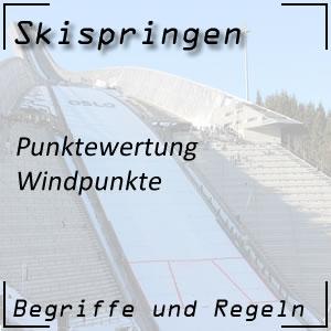 Skispringen Punktewertung Windpunkte