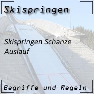 Skispringen Schanze Auslauf