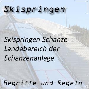 Skispringen Landebereich