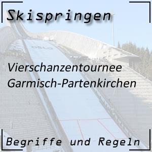 Skispringen Vierschanzentournee Garmisch