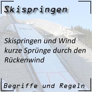 Skispringen Rückenwind