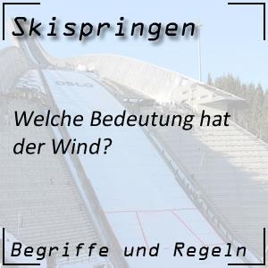 Skispringen Wind