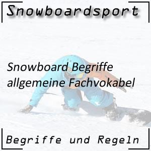 Snowboard Begriffe allgemein