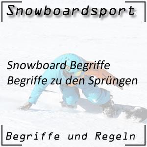 Snowboard Begriffe Sprünge