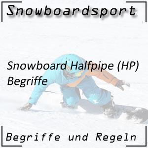 Snowboard Halfpipe Begriffe