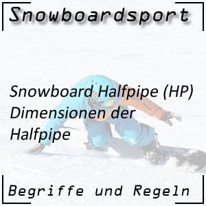 Snowboard Halfpipe Dimensionen