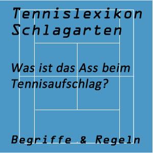 Ass im Tennisspiel