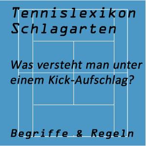 Kick-Aufschlag im Tennisspiel