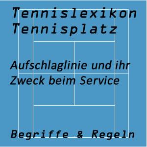 Aufschlaglinie am Tennisplatz