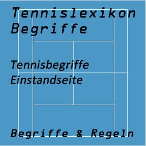Tennis Einstandseite