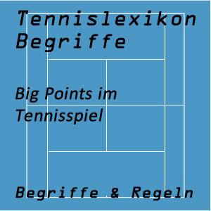 Big Points im Tennisspiel