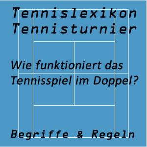 Tennisspiel im Doppel oder Mixed