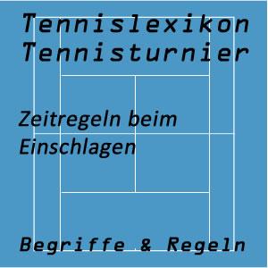 Einschlagzeit vor oder im Tennisspiel