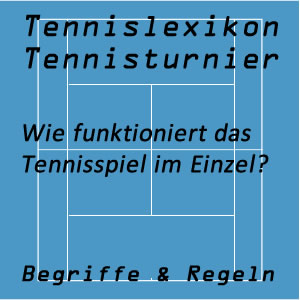 Einzel Tennisspiel