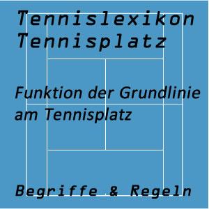 Grundlinien am Tennisplatz