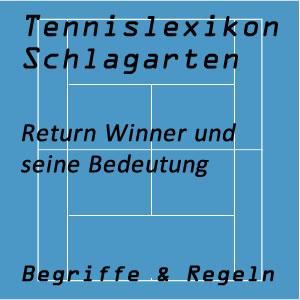 Return Winner im Tennisspiel