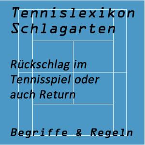 Rückschlag oder Return im Tennisspiel