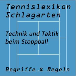 Stoppball im Tennisspiel