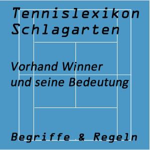 Vorhand Winner im Tennisspiel