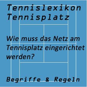 Netz am Tennisplatz