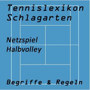 Halbvolley im Tennisspiel