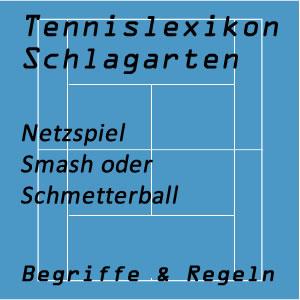 Smash oder Schmetterball im Tennisspiel