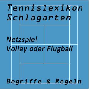 Volley oder Flugball im Tennisspiel