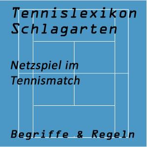 Netzspiel im Tennisspiel