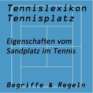 Sandplatz im Tennissport