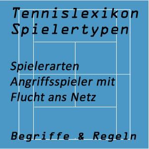 Tennis Spielertypen Angriffsspieler