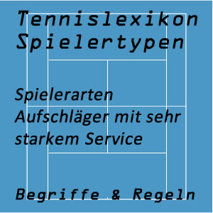 Tennis Aufschläger