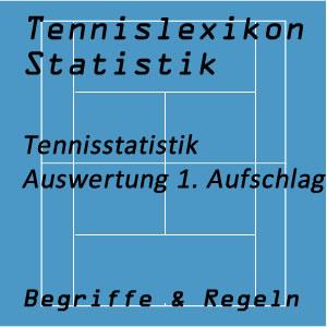 Tennisstatistik 1. Aufschlag