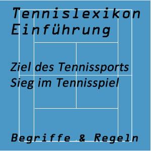 Ziel beim Tennissport