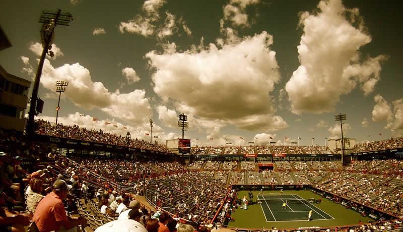 Tennisplatz beim Turnier