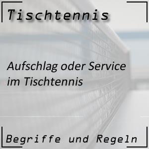 Tischtennis Aufschlag (Service)