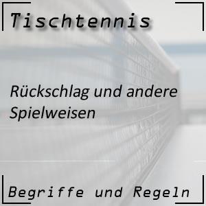 Tischtennis Rückschlag Return