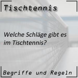 Tischtennis Schläge Schlagarten