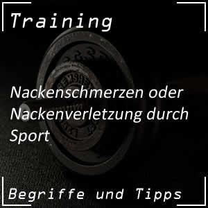 Nackenschmerzen durch Sport