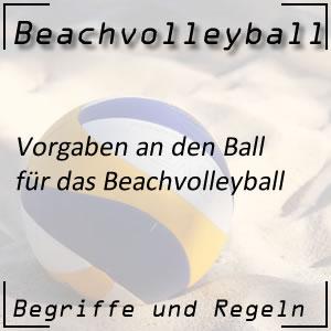 Beachvolleyball der Ball