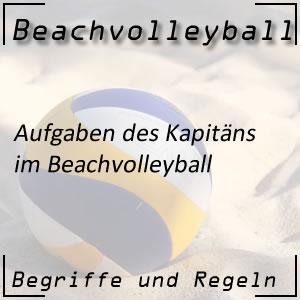 Beachvolleyball Kapitän Aufgaben